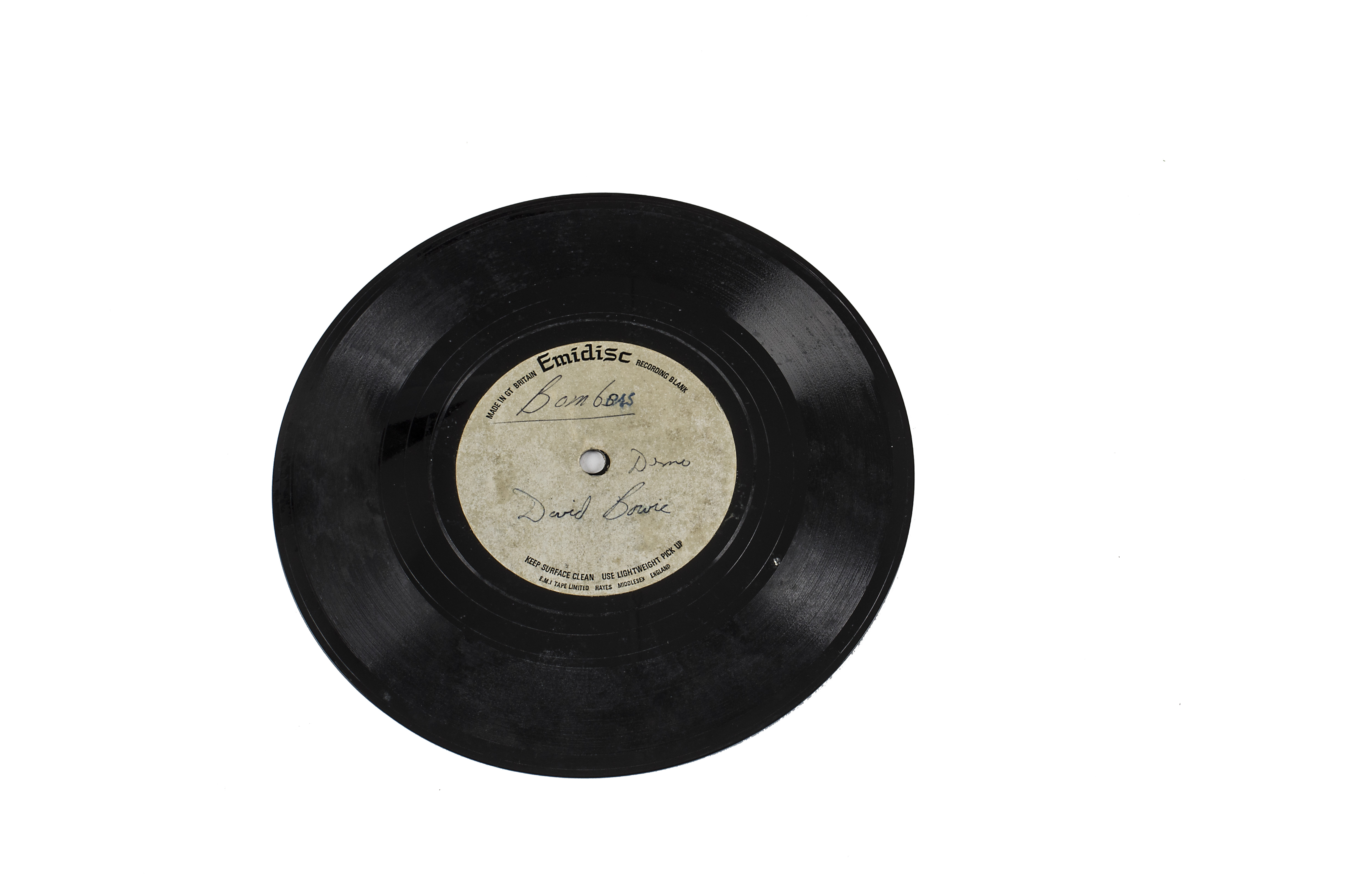 """Lot 229 - David Bowie Acetate, Changes b/w Bombers - Double-Sided UK 7"""" Mono Acetate - Very different"""