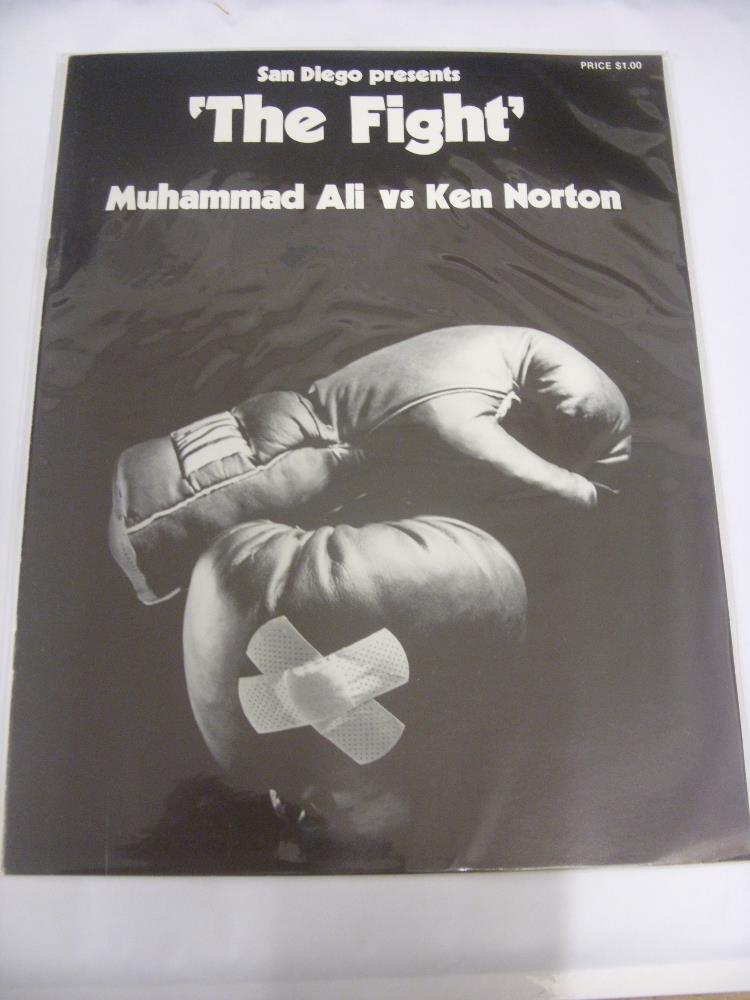 Lot 51 - 1973 Boxing, Muhammad Ali v Ken Norton, a programme from the bout staged at the Sports Arena, San