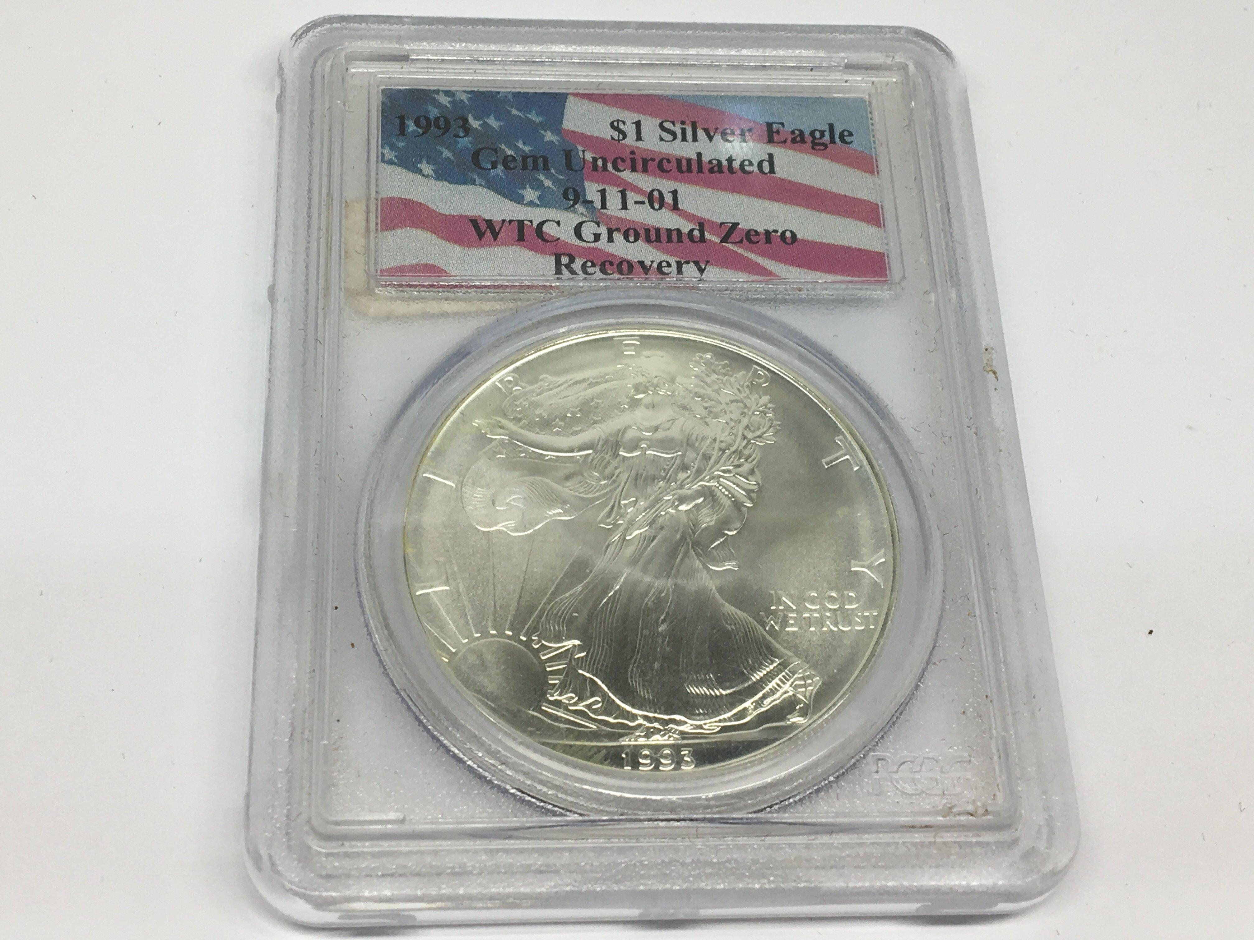 Lot 130 - A 1993 American Historical one Eagle Dollar. Gem U
