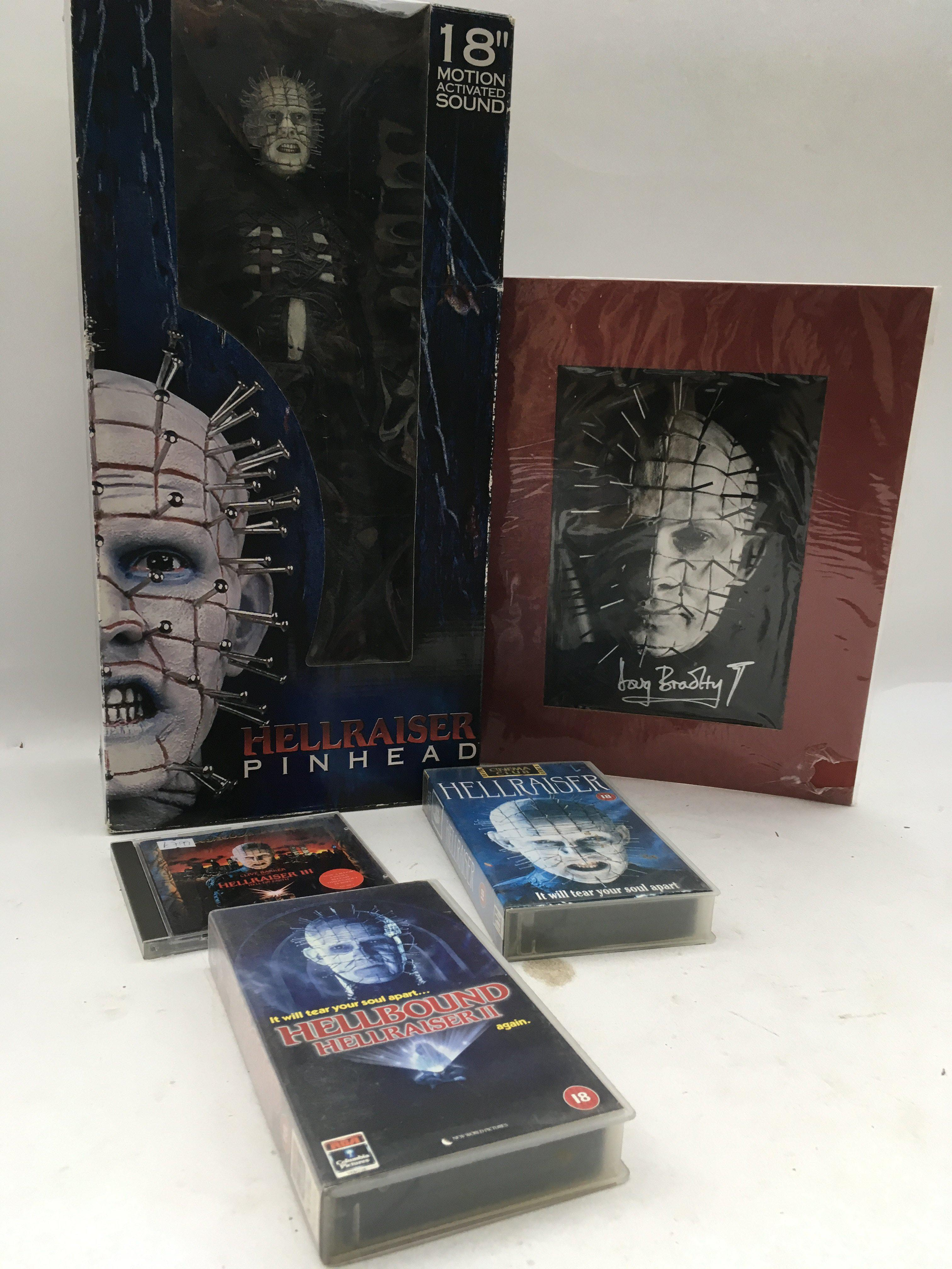 "Lot 1544 - Hell raiser Pinhead, 18"" motion activated boxed fi"