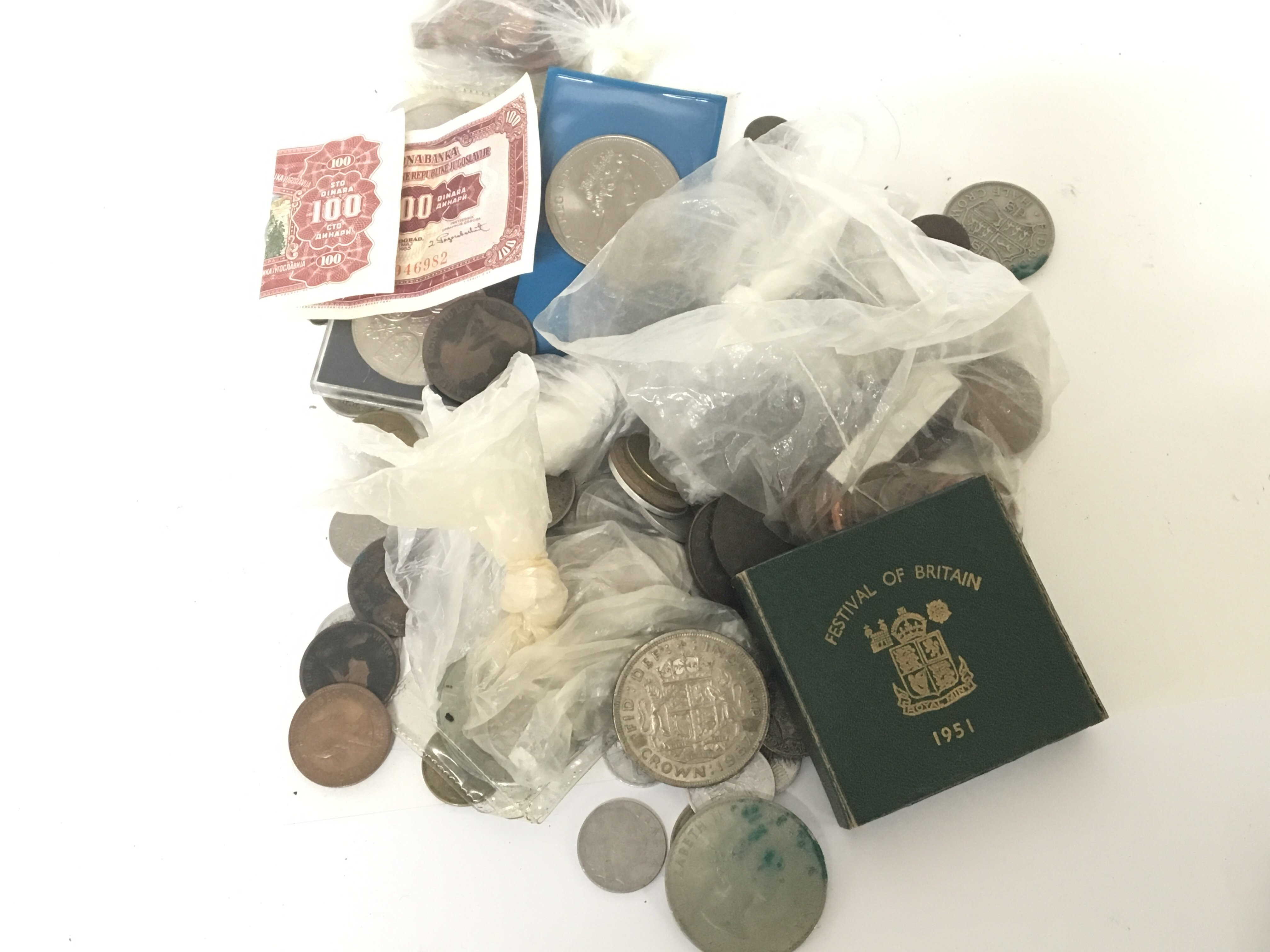 Lot 524 - A collection of used circulated coinage including