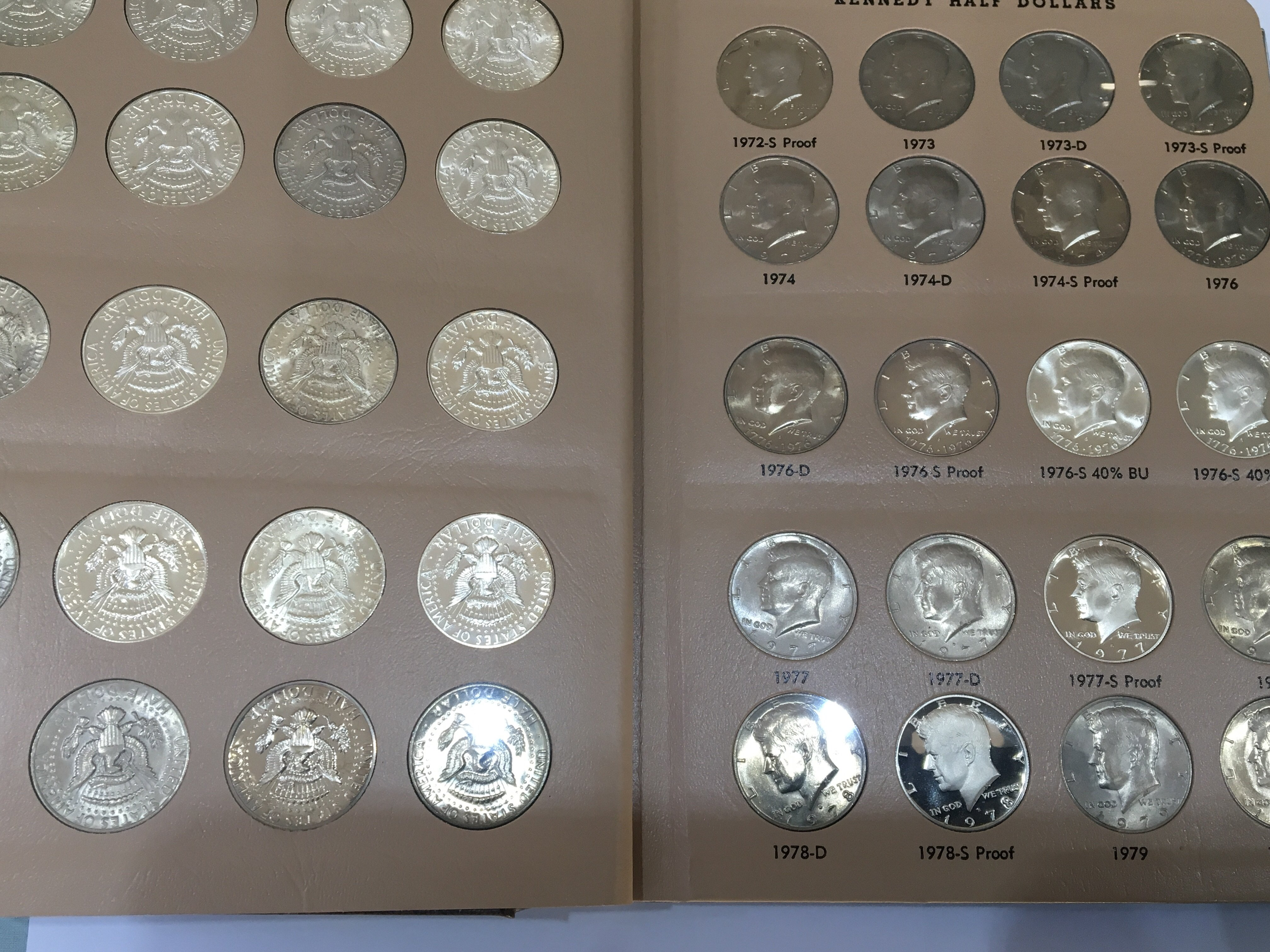 Lot 100 - A Kennedy Half Dollar set 1964-2016 complete in tw