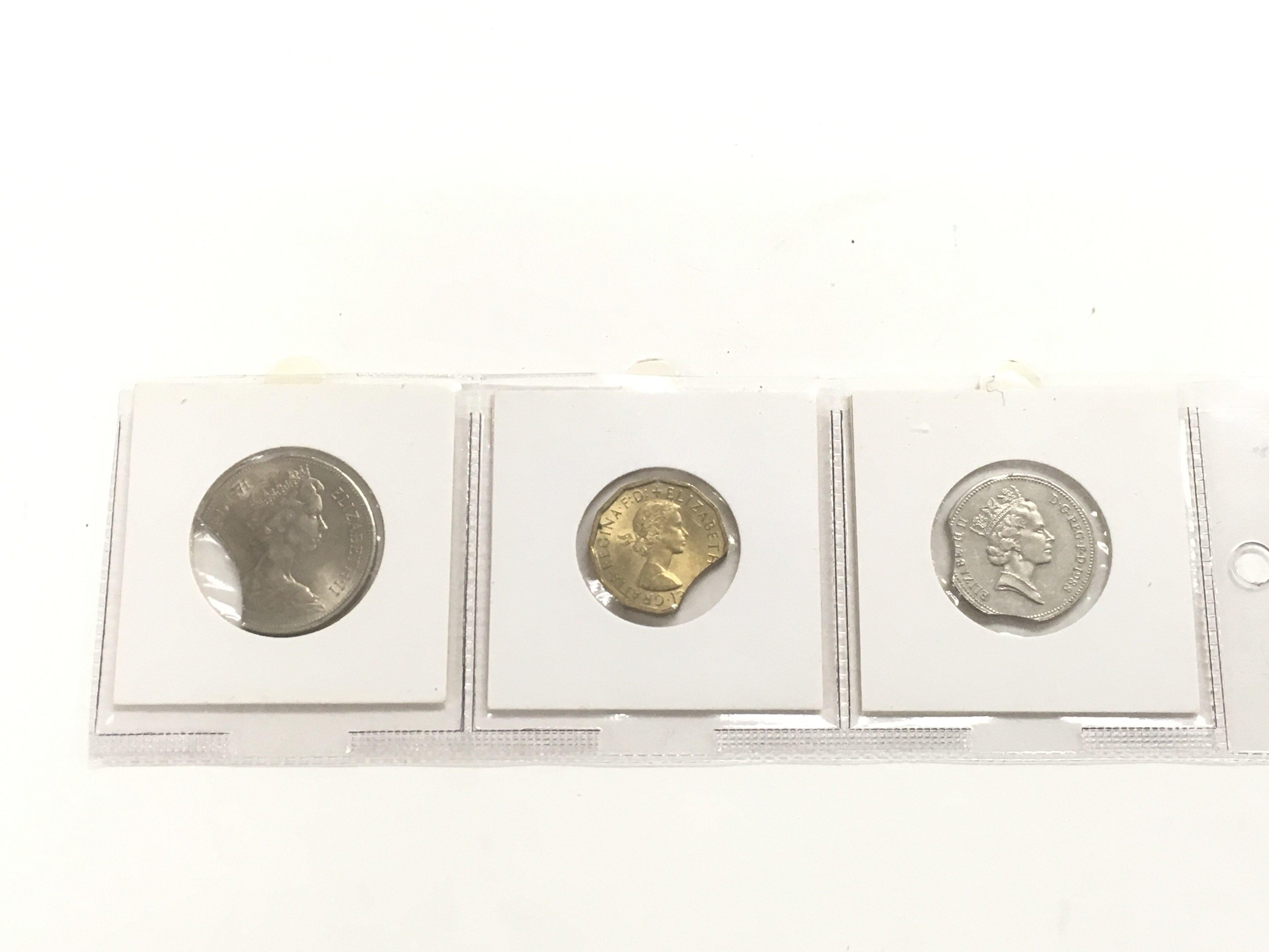 Lot 330 - Three mis strike GB coins.