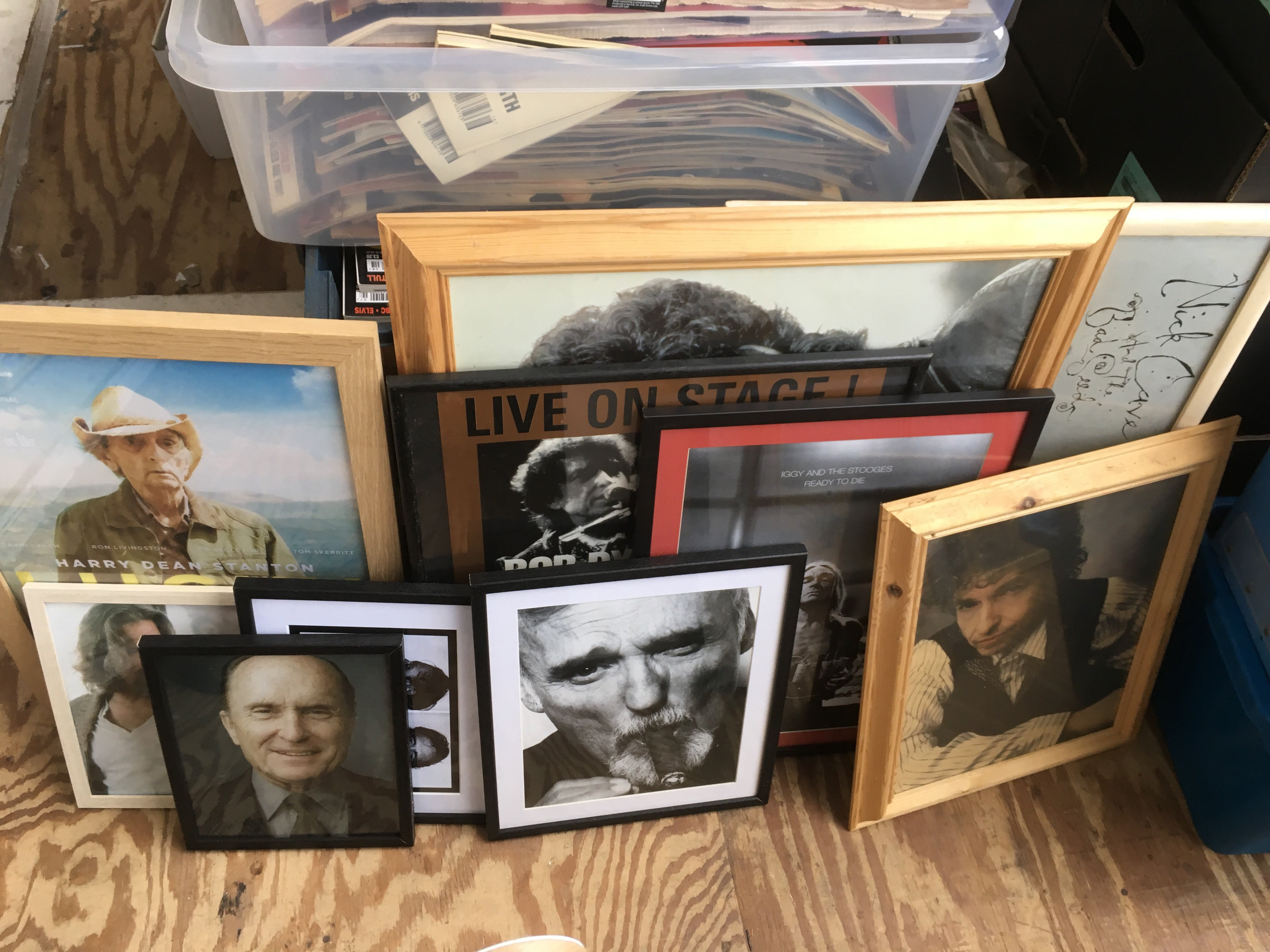Lot 1315 - A collection of framed and unframed posters of mus