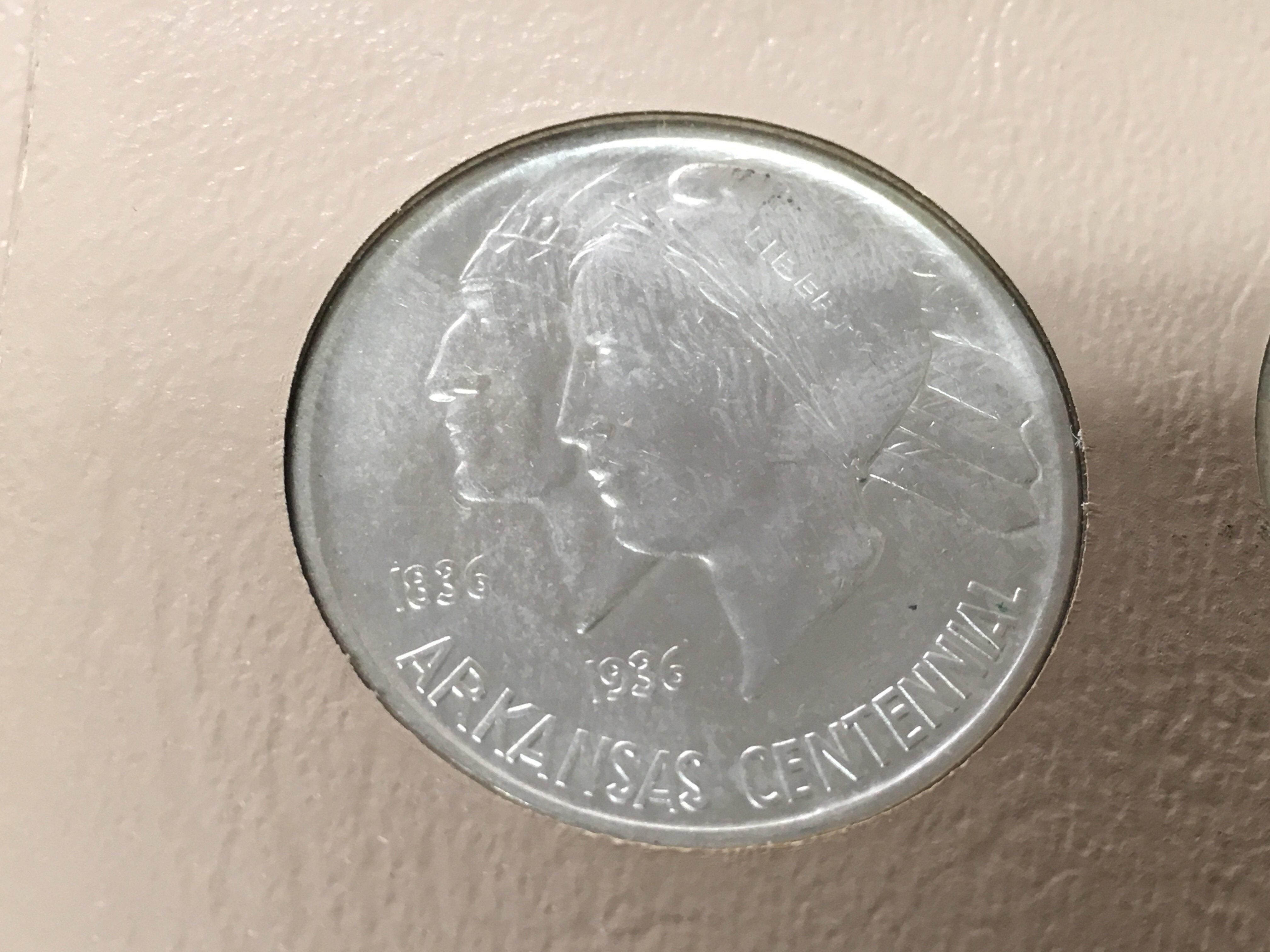 Lot 154 - A set of American commemorative half dollars Arkan