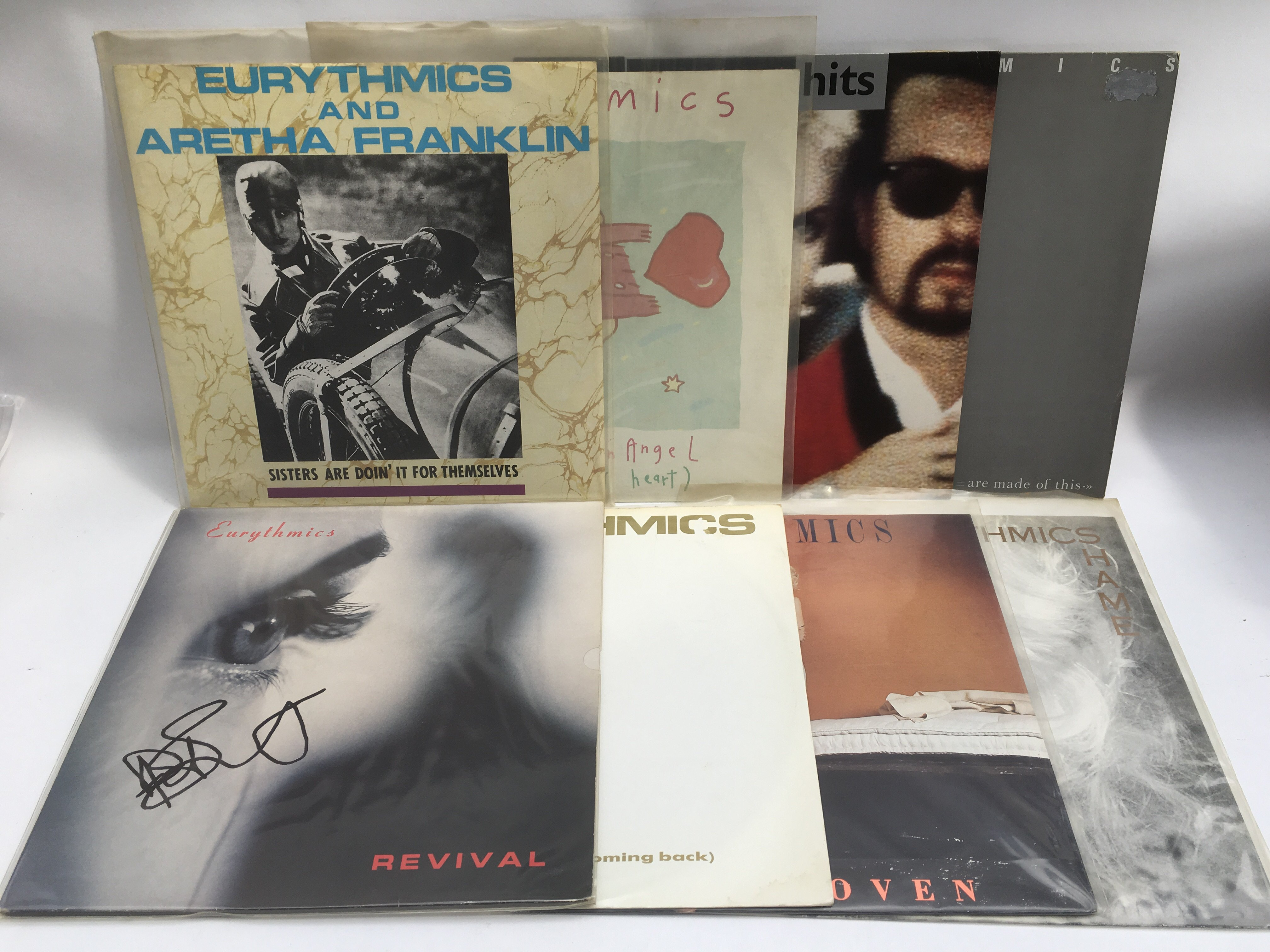 Lot 1770 - Eight records by Eurythmics including a 12inch sin