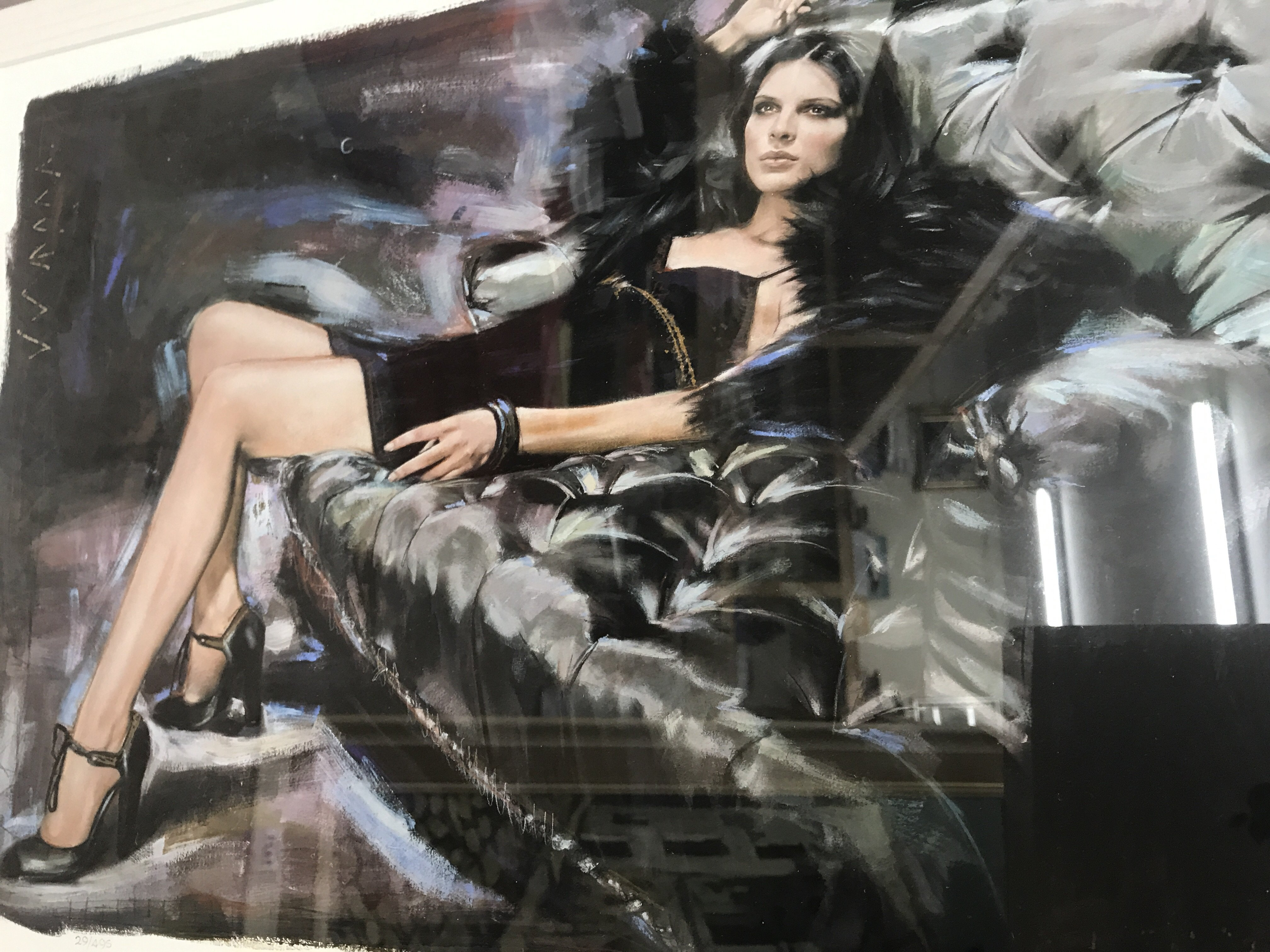 Lot 1208 - A limited edition print midnight secret by rob Hef