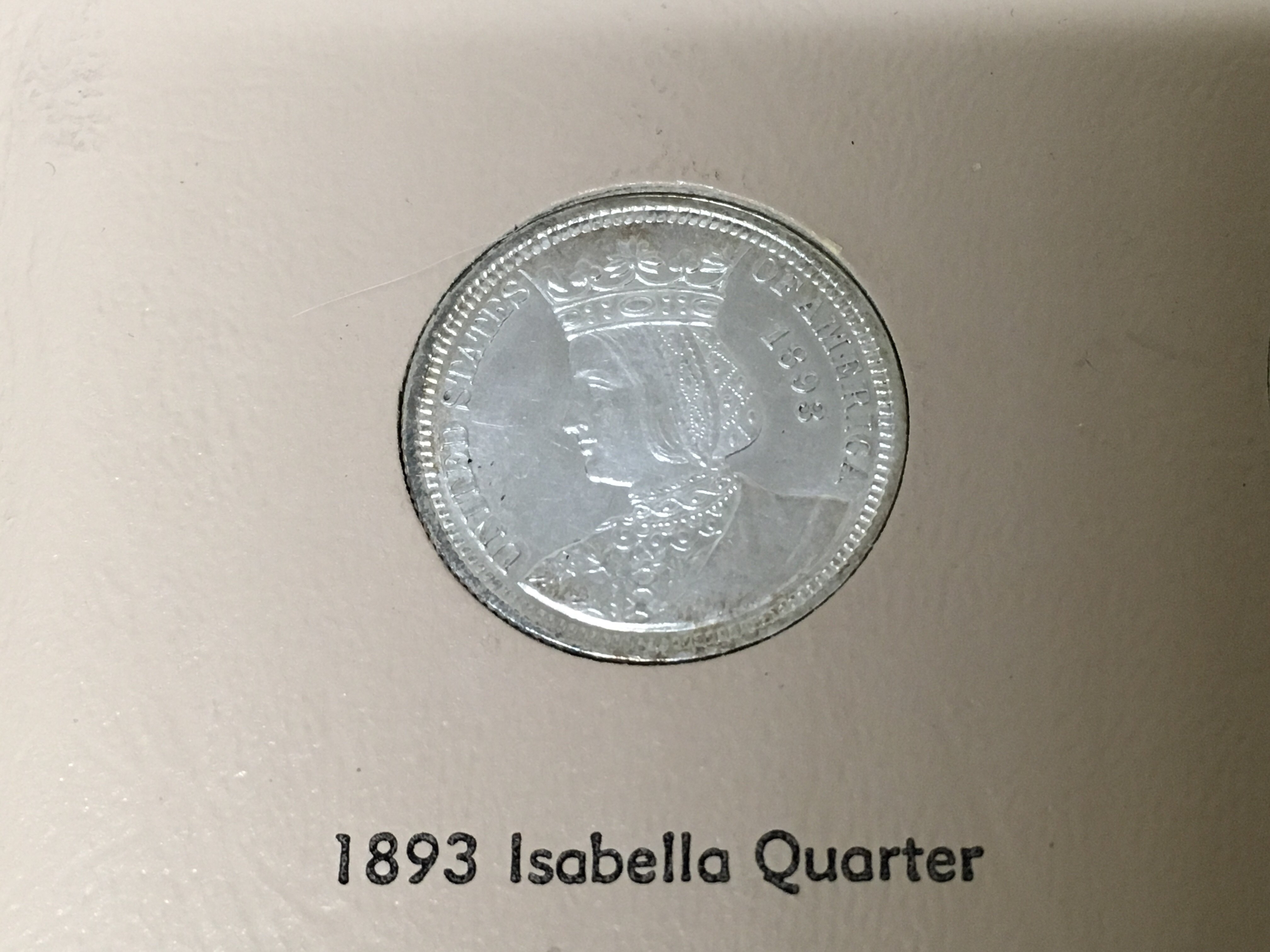 Lot 149 - A rare American Isabella Quarter Dollar coin. Poss