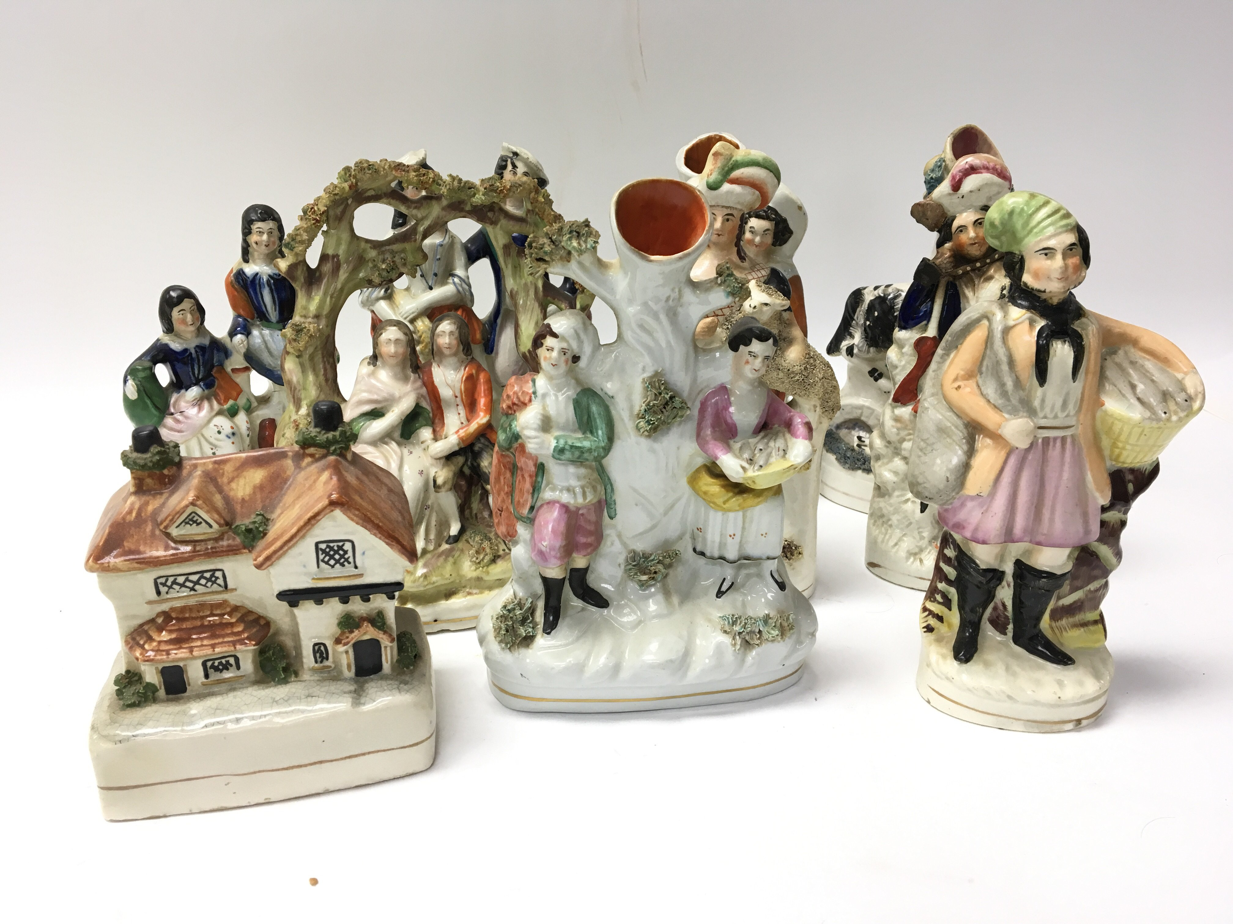 Lot 719 - A collection of ten genuine Victorian hand painted