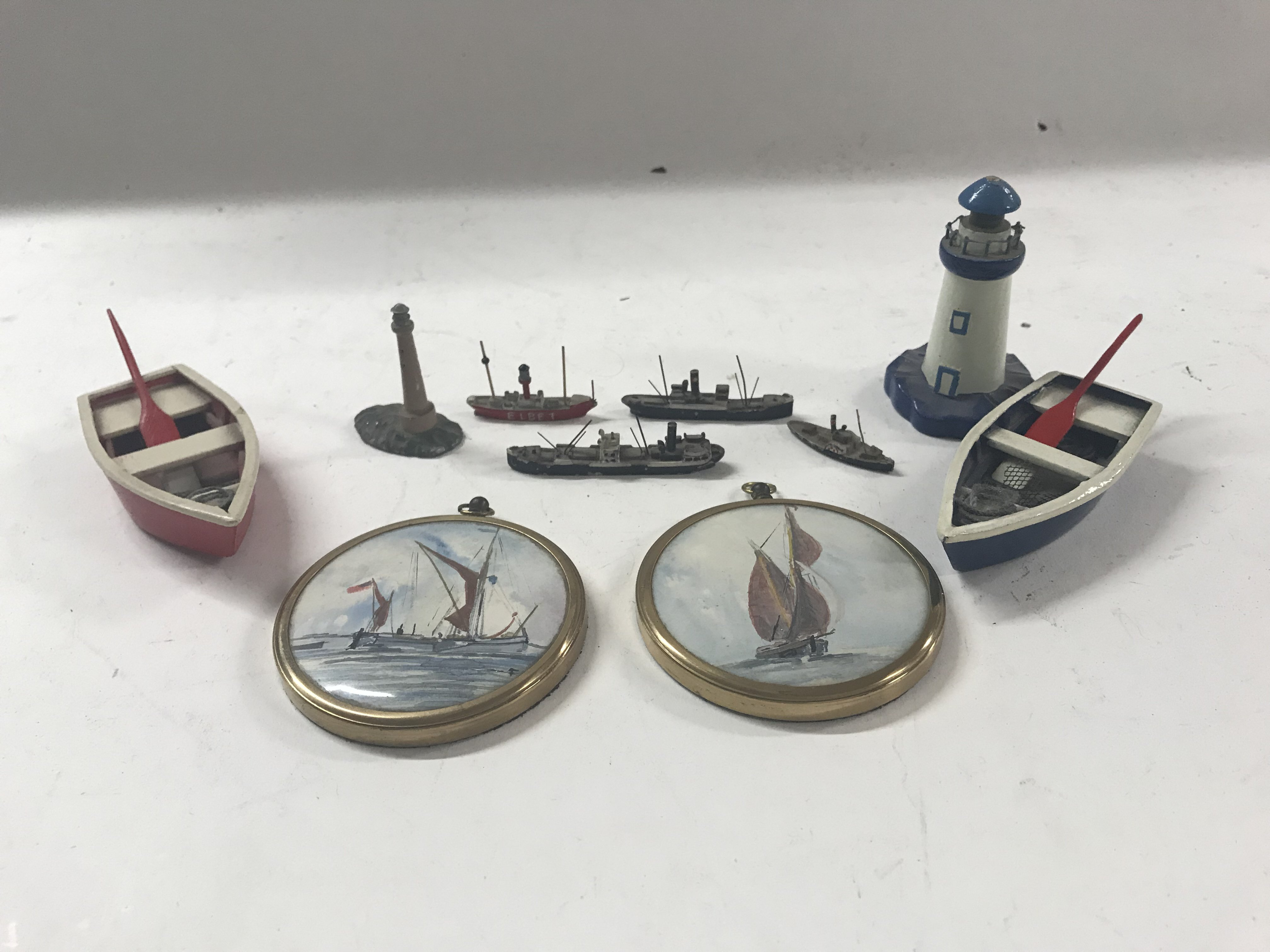 Lot 1780 - A small group of shipping oddments to include two