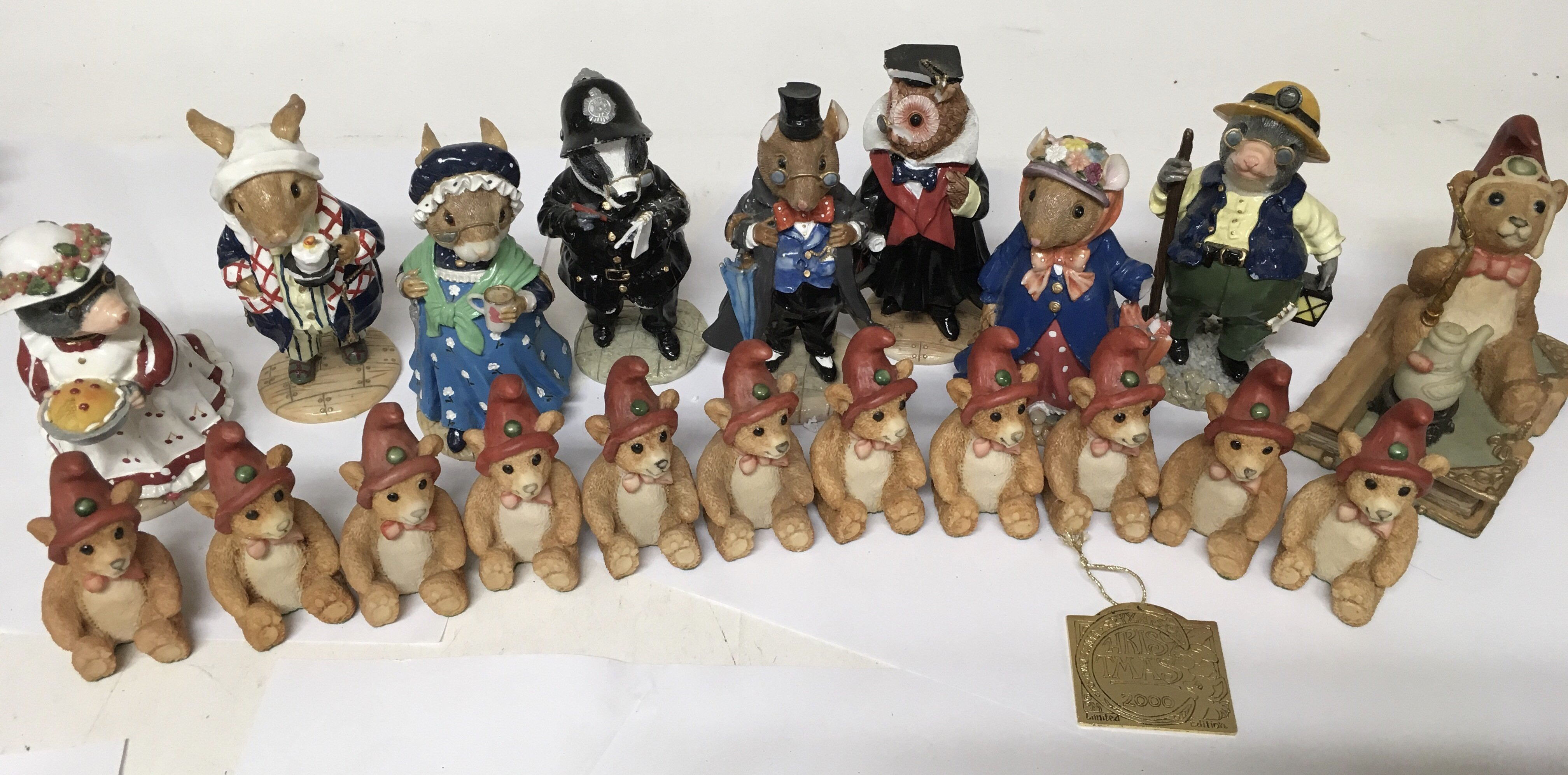 Lot 736 - A collection of animal figures from 'The Tales of