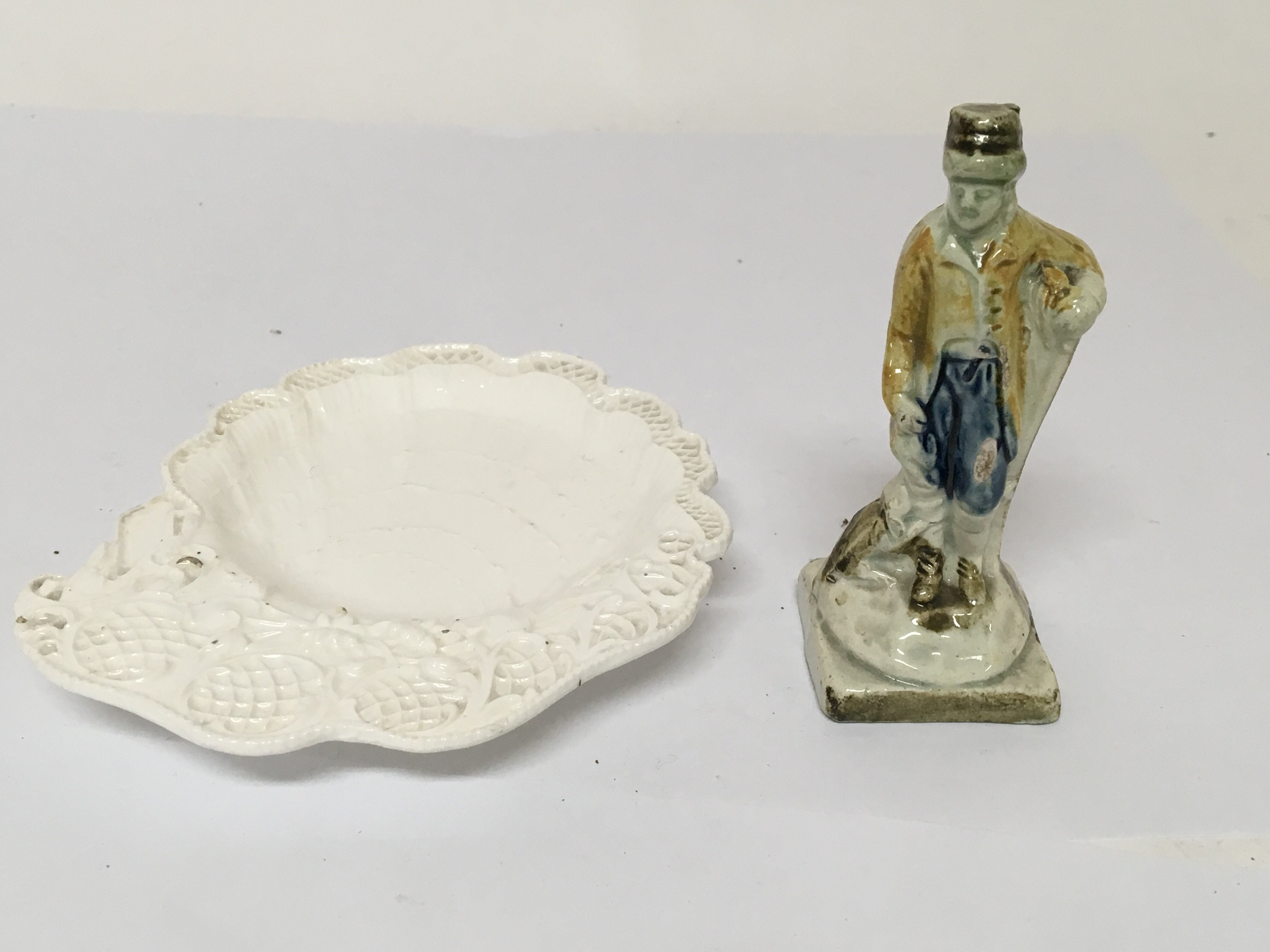 Lot 743 - An 18th Century English Pearl ware figure attribut