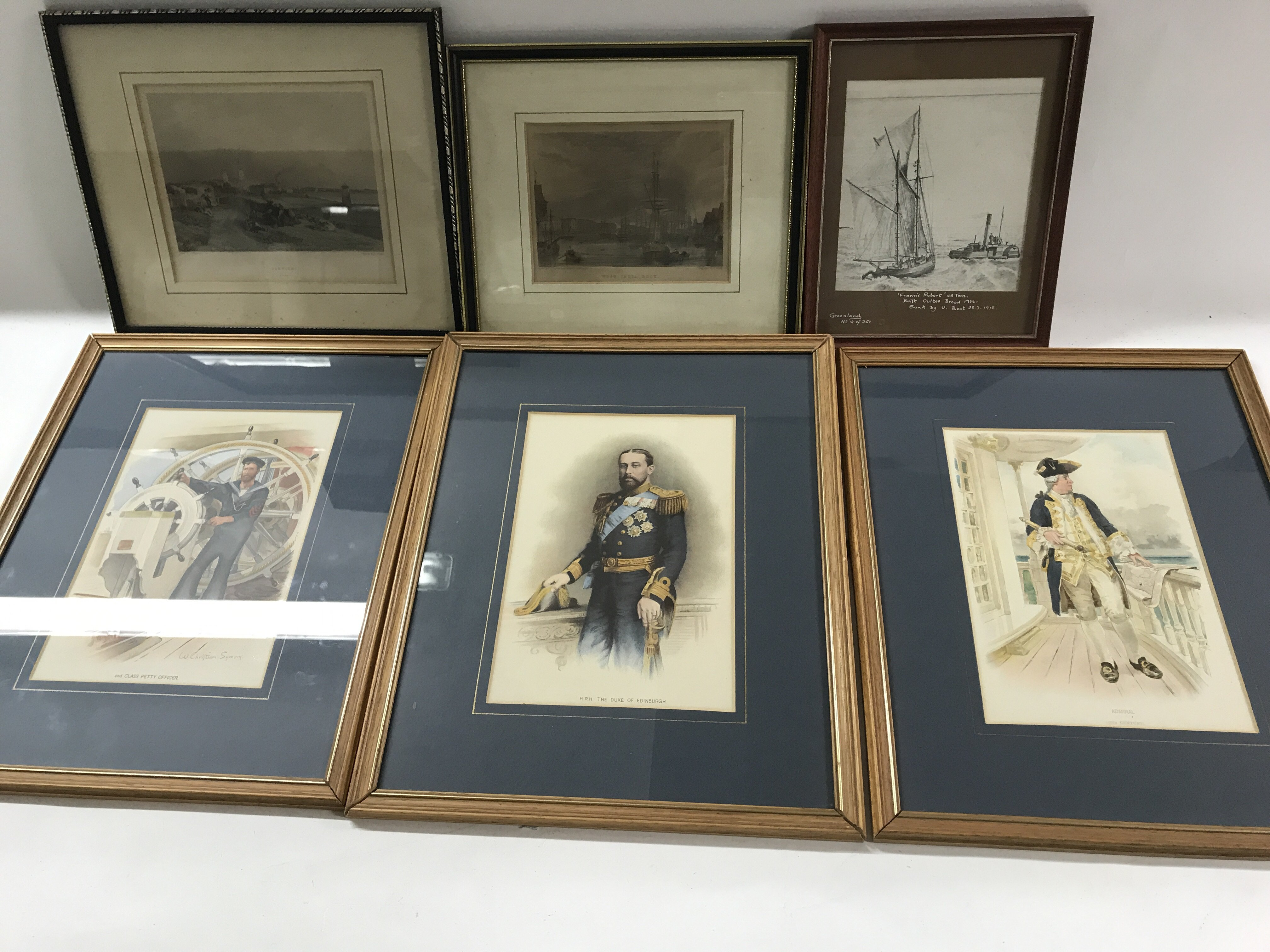 Lot 1206 - A box of pictures of sailor and maritime interest
