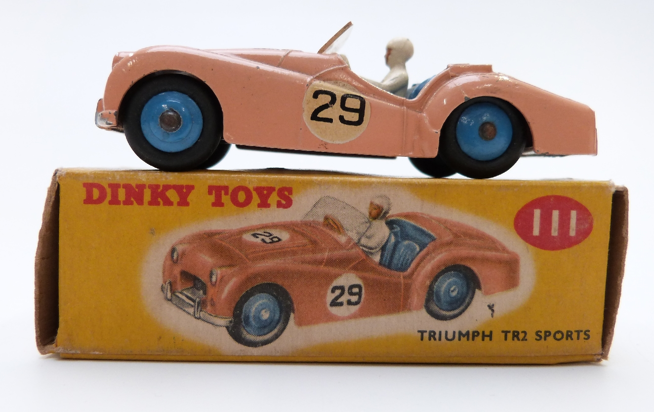 Dinky 111 Triumph TR2Turquoise Car 25Waterslide Transfer//Decal