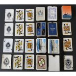 Lot 149 - English playing cards by various makers, including five single packs with shipping line back designs