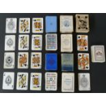 Lot 151 - Five single packs of English playing cards by various makers, with crest backs to include Royal