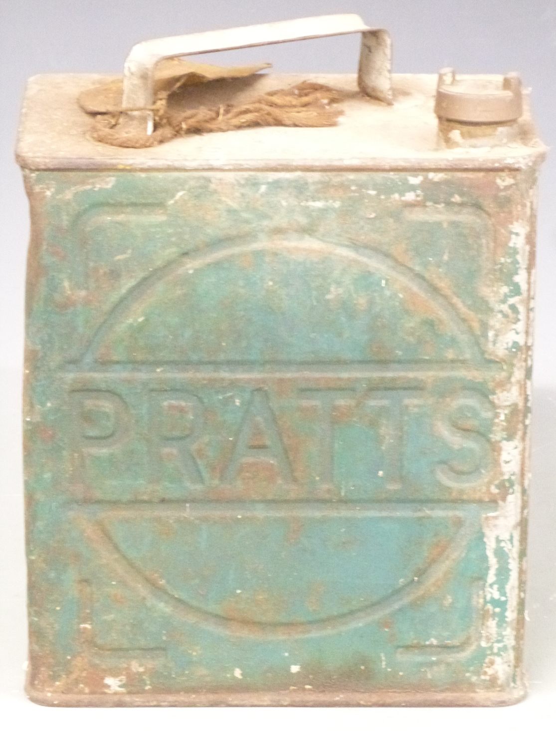 Lot 11 - Pratts vintage two gallon petrol can with Shell cap
