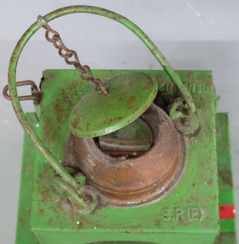 Lot 12A - BR(E) railway signal or similar lamp, height 27cm