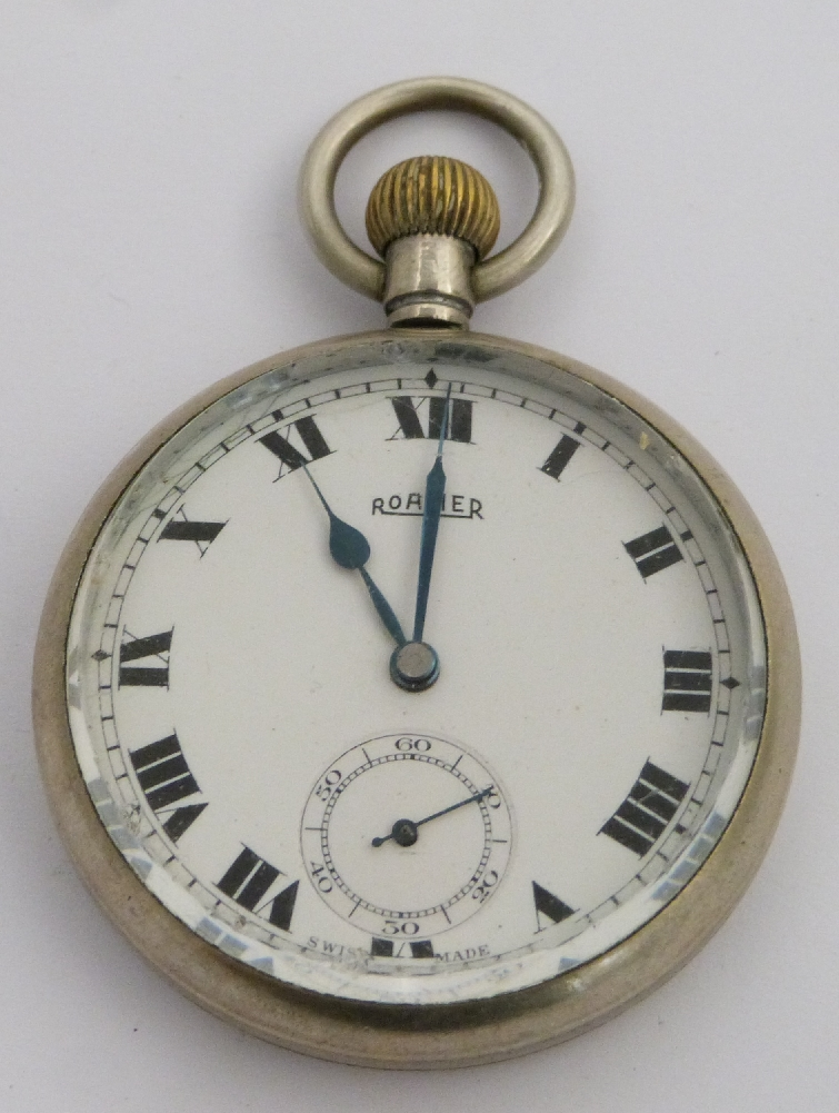 Lot 43 - Southern Railway Roamer keyless winding open faced pocket watch with subsidiary seconds dial,