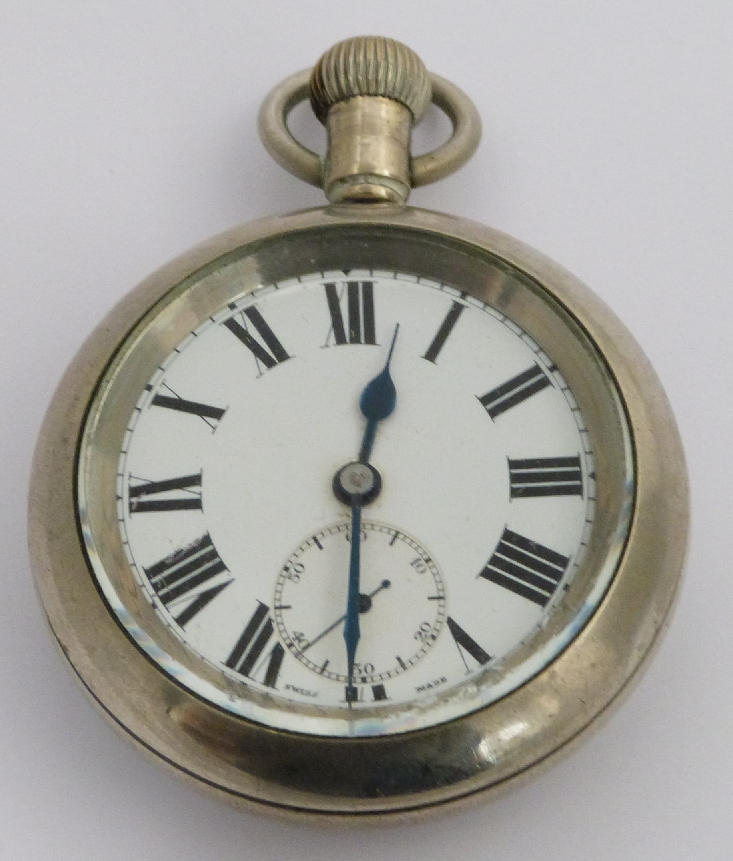 Lot 36 - London Midland and Scottish railway keyless winding open faced pocket watch with inset subsidiary