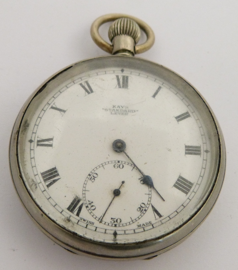 Lot 56 - British Railways Southern region Keys standard lever keyless winding open faced pocket watch with