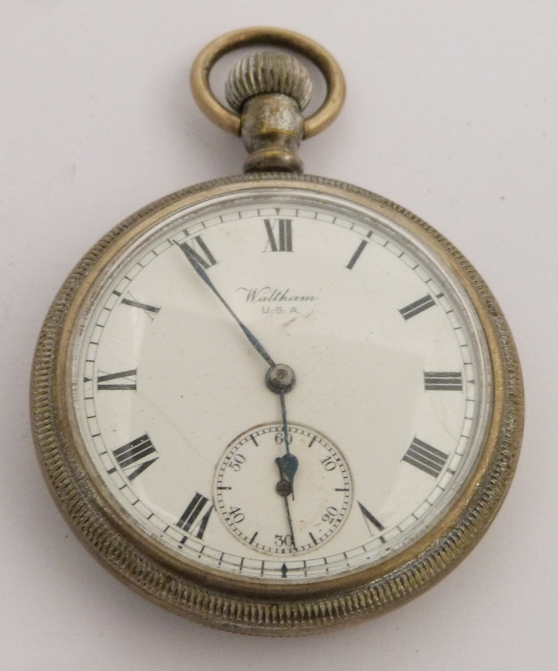 Lot 53 - British Railways Southern region Waltham keyless winding open faced pocket watch with subsidiary
