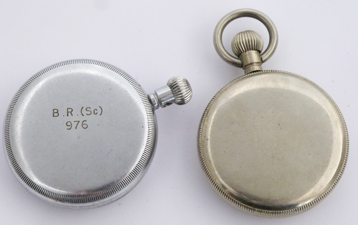 Lot 58 - Two British Railways keyless winding open faced pocket watches, one a Phenix Southern region