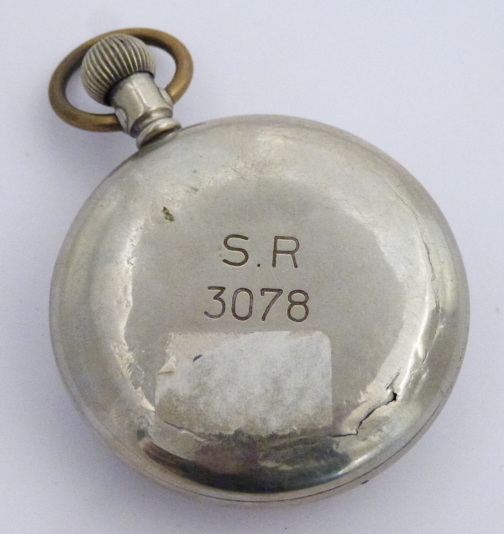 Lot 44 - Southern Railway Frenca keyless winding open faced pocket watch with inset subsidiary seconds