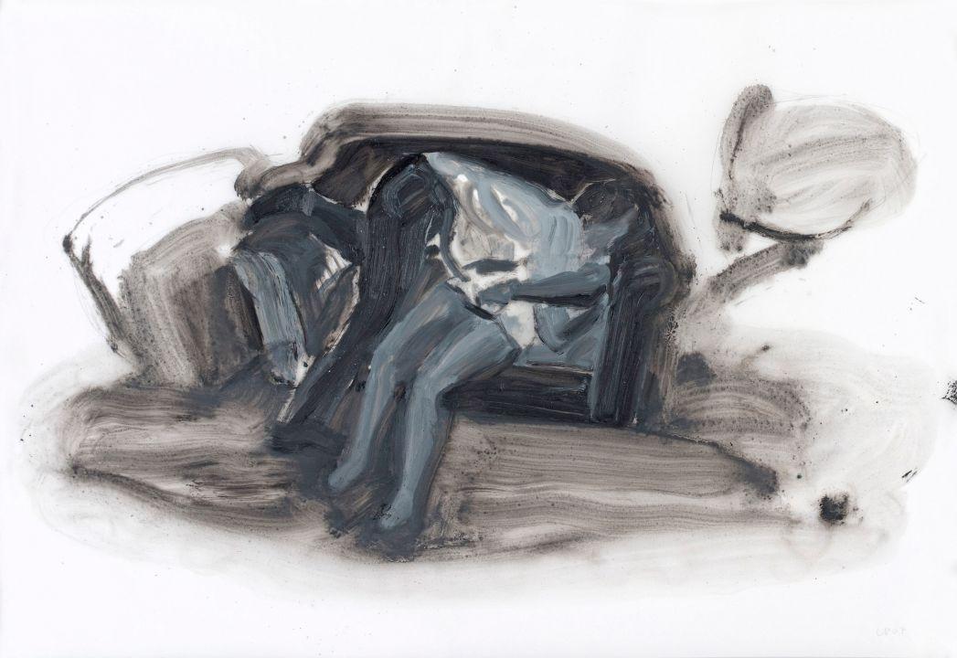 Lot 10 - Lisa Brice; Untitled (Base II, study)