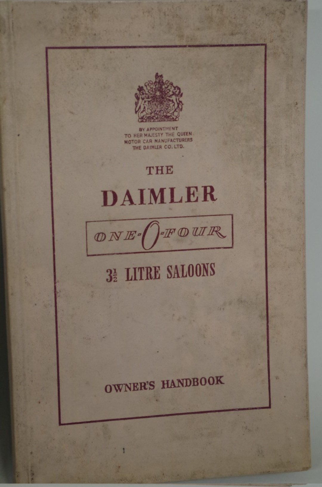 Lot 543 - TwoDaimler Owner's Handbooks, comprising: 'Conquest 100'; and 'One-O-Four'. (2)