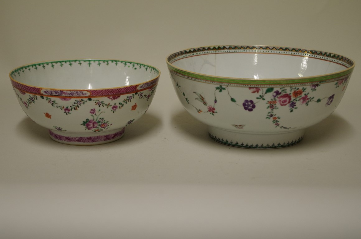 Lot 611 - A mixed group of Chinese porcelain, 18th and 19th century, (most items s.d.). (12)