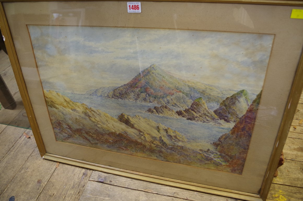 Lot 1486 - Emily Conway,a coastal scene, signed, watercolour, 39 x 59.5cm.