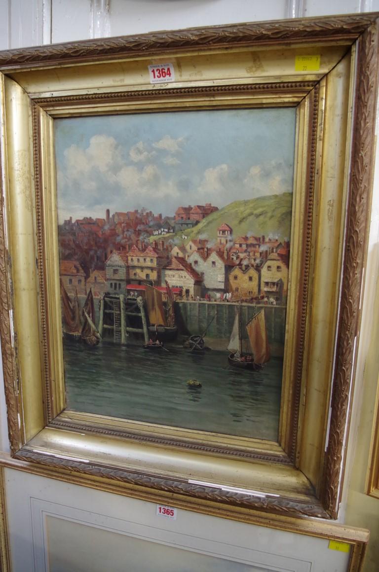 Lot 1364 - English School, 'Fowey, Cornwall', oil on canvas, 42 x 32cm.