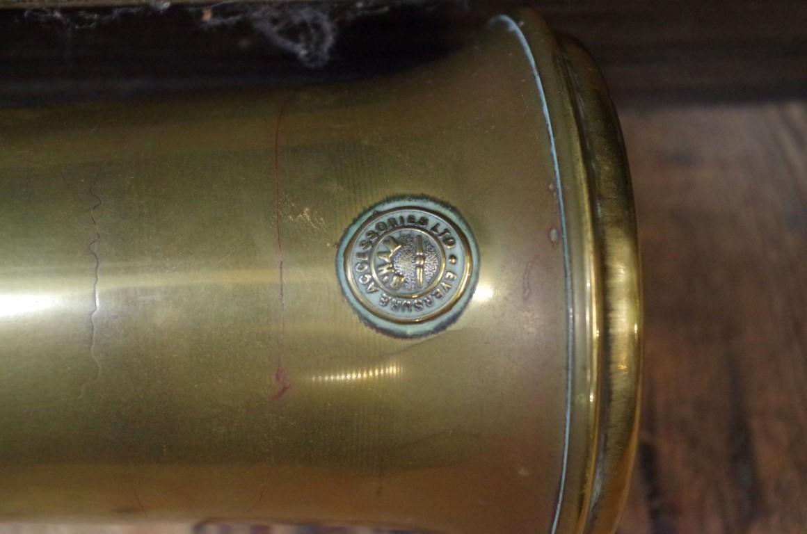 Lot 1622 - Automobilia:a vintage 'Eversure' brass car horn.
