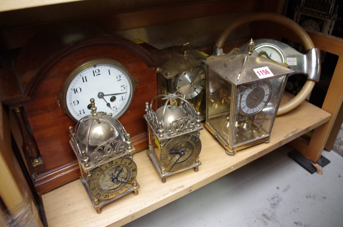Lot 1156 - A collection of clocks and timepieces.