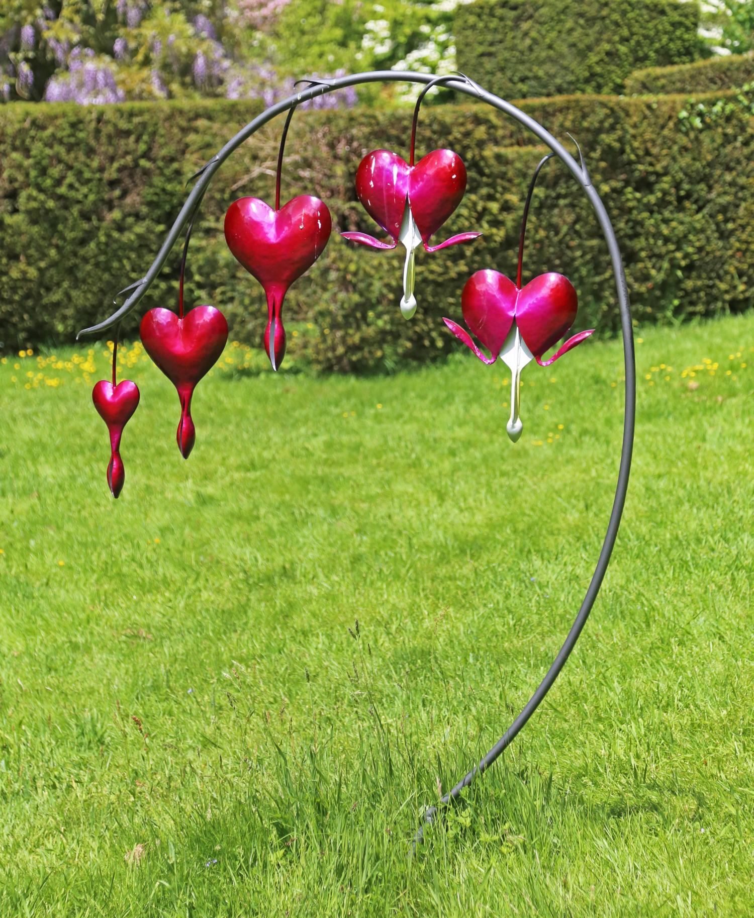 Lot 28 - Sculpture: Dicentra Bleeding Heart, Missfire, Glass & steel, 170cm high by 120cm wide by 90cm deep