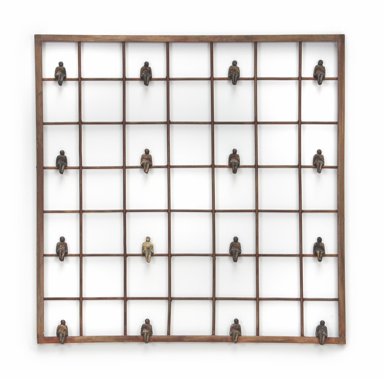 Lot 30 - Sculpture: Erli Fantini, (born 1944, Brazil), The Window, Bronze, Signed, 70cm high by 70cm wide,