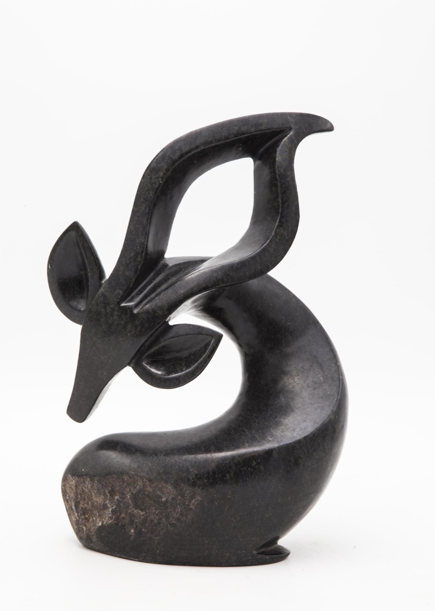 Lot 32 - Sculpture: Fungai Dodzo, Duiker, Springstone, 34.5cm high by 24cm wide by 12.5cm deep