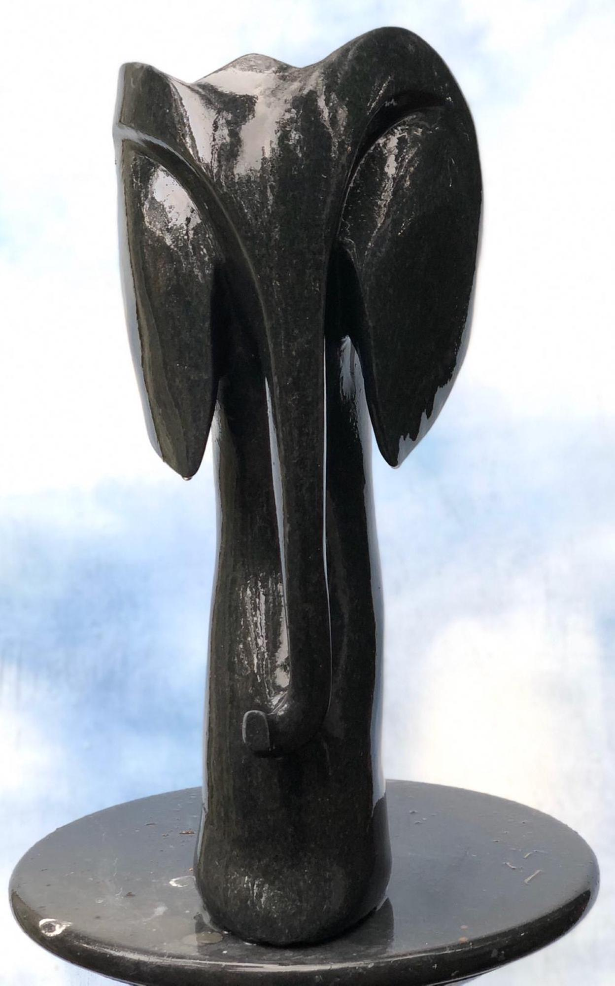 Lot 8 - Sculpture: Andamiyo Chihota, Dancing Elephant, Springstone, Unique, 52cm high by 22cm wide by 22cm