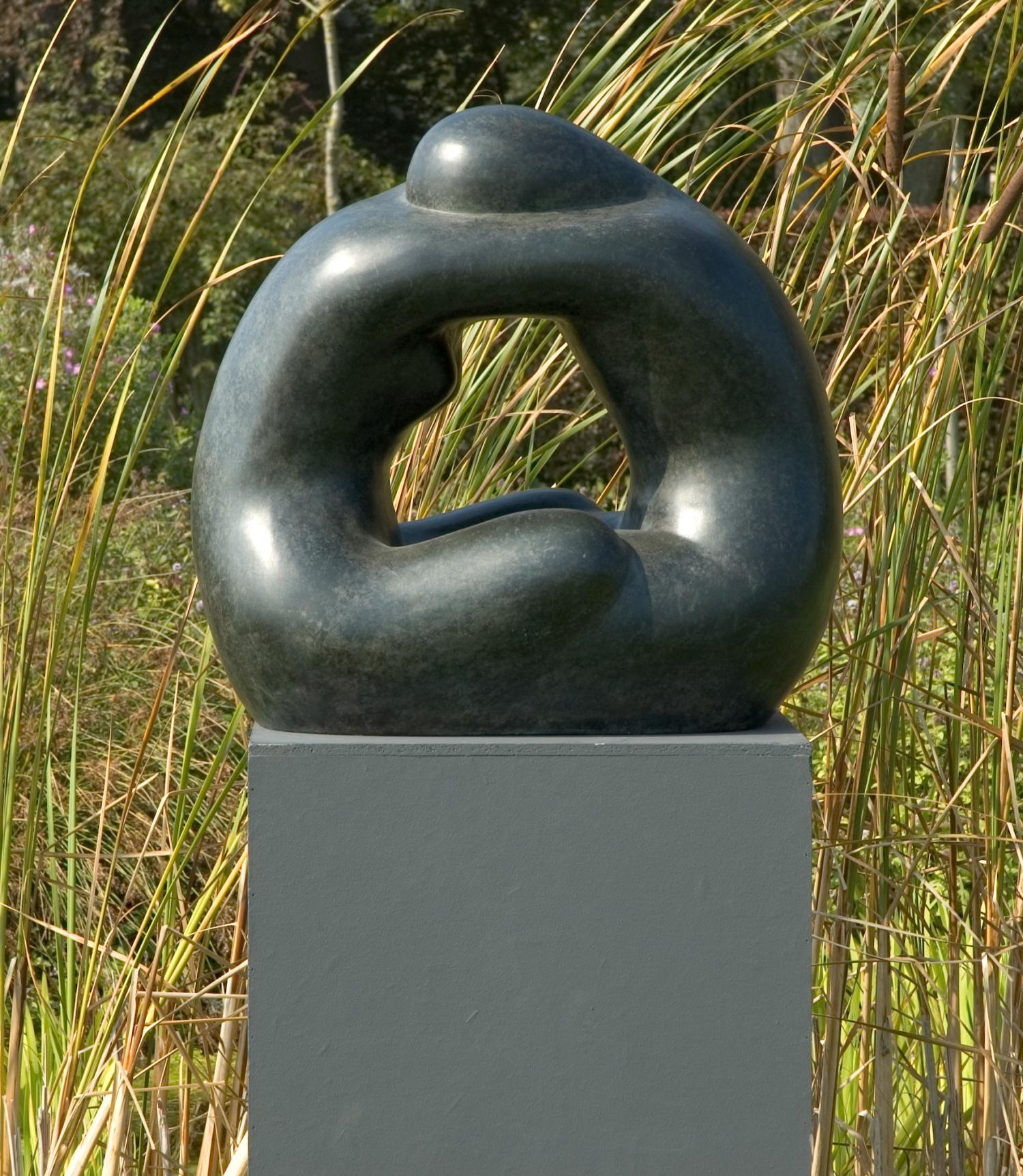 Lot 39 - Sculpture: Guy Buseyne, (born 1961), Samen, Bronze, Variegated green-brown patination, Foundry