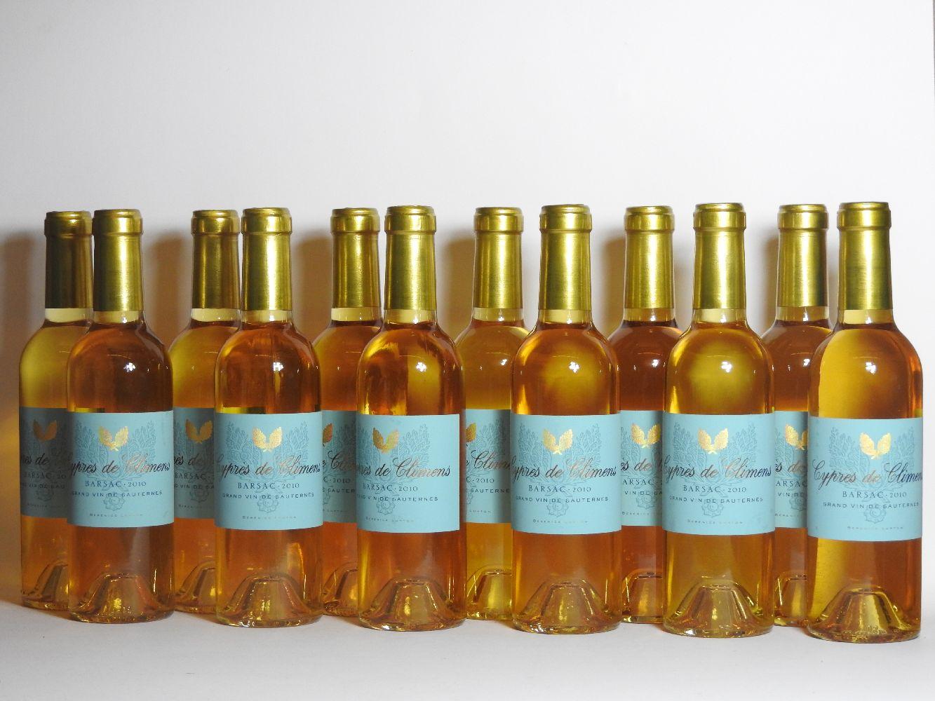 Lot 45 - Cypres de Climens, Barsac, 2010, twelve half bottles (boxed)