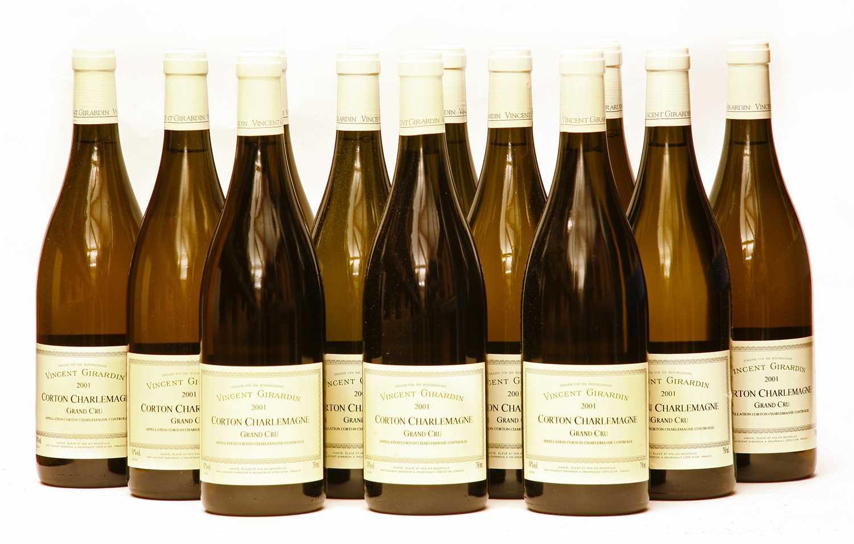 Lot 8 - Vincent Girardin, Corton Charlemagne, Grand Cru, 2001, twelve bottles (boxed)
