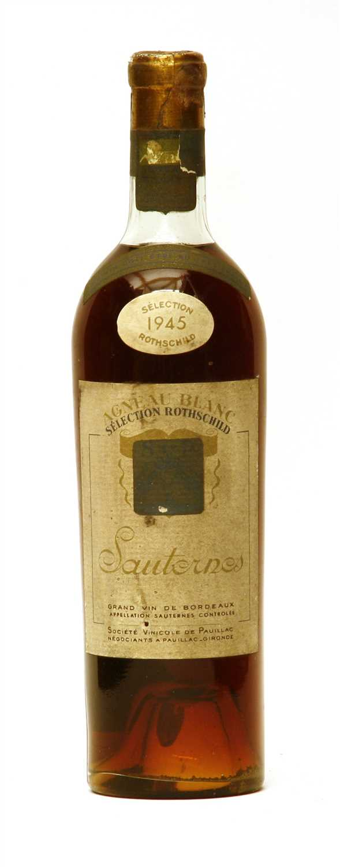 Lot 19 - Selection Rothschild, Agneau Blanc, Sauternes, 1945, one bottle