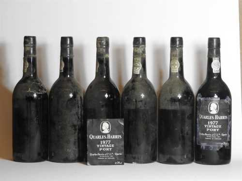 Lot 63 - Quinta Quarles Harris, 1977, six bottles (labels lacking, vintage on capsule)