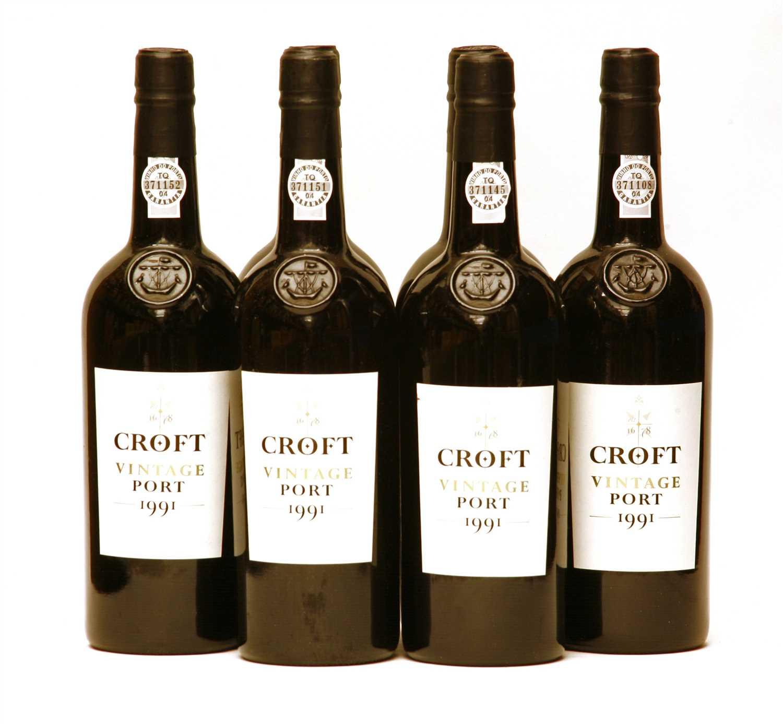 Lot 36 - Croft, 1991, six bottles (opened owc)