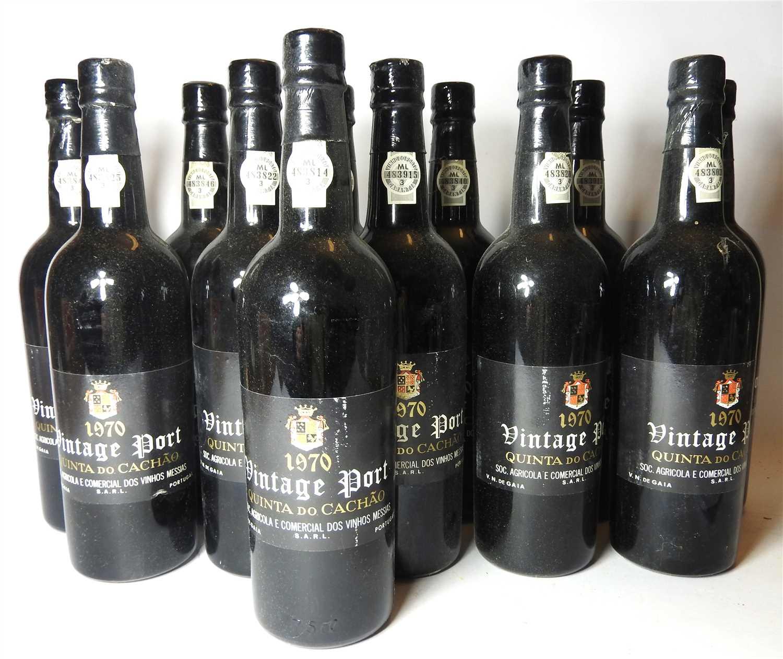 Lot 68 - Quinta do Cach?o, 1970, twelve bottles