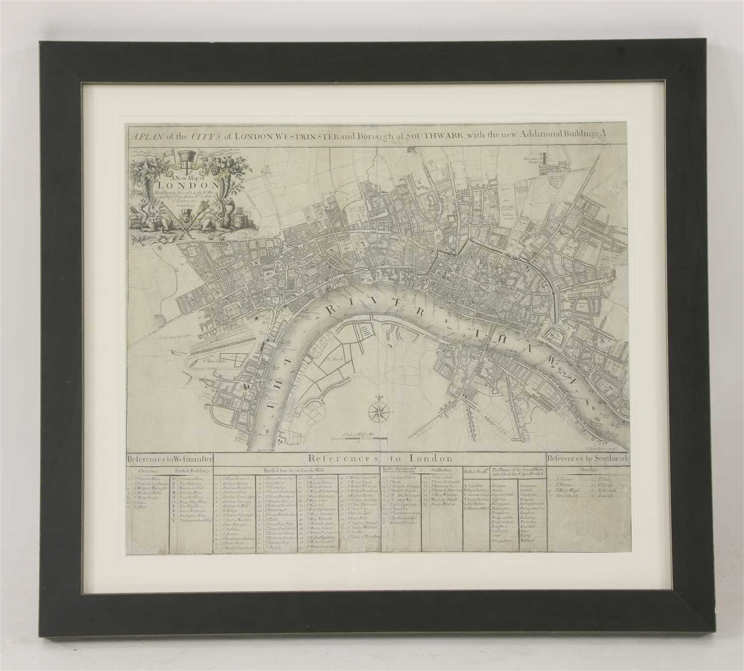 Lot 20 - JOHN SENEX MAP OF LONDON,