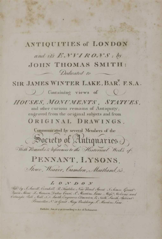 Lot 23 - 'ANTIQUITIES OF LONDON',