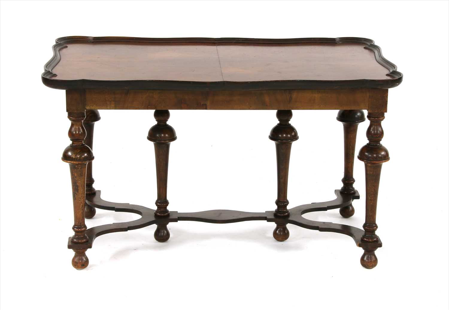 Lot 714 - An 18th century style walnut tray top occasional table,