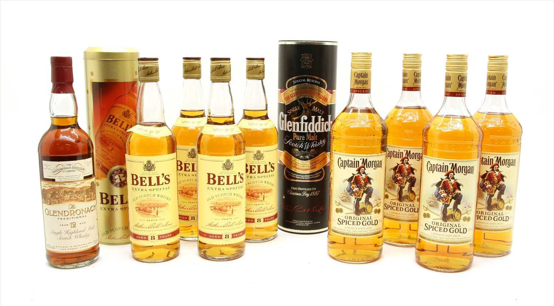 Lot 468 - Eleven bottles of spirits,